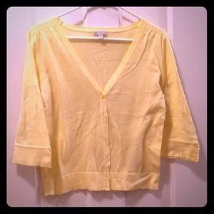 🆕 Yellow 3/4 inch sleeve cardigan from Gap